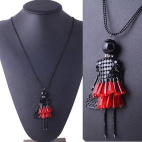 Dije Con Cadena Doll Dress Rojo, Moda Envio Gratis
