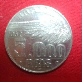Moeda De Prata 5000 Réis 1937 Santos Dumont