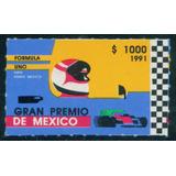 Mexico 1991 Formula 1 Con Resello De Aguila Negra Nuevo Raro