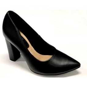 cb85e0ee54 Scarpin Preto Com Bico Dourado Feminino Beira Rio - Sapatos no ...