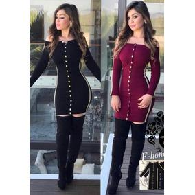 Vestidos Licra 2 X 500 Rojo Y Negro