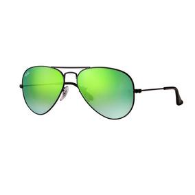 2d72efcc10c5b Oculos Solar Ray Ban Aviador Rb3025 002 4j 58 Preto Verde