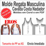Molde De Regata Feminina Cava Nadador no Mercado Livre Brasil e268161a908