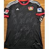 Camisa Do Bayer Leverkusen 2014 15 Autografada Todo Elenco fbfd1c009d213