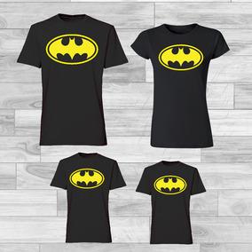 Combo Familiar X4 Camisetas Algodon Personalizadas - Batman 7d72e603b81