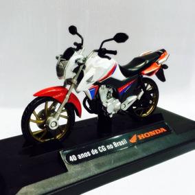 Miniatura Honda Cg 160 Titan Edição Especial 40 Anos 1:18