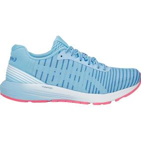 Tenis Para Correr Asics Dynaflyte 3 Celeste/rosa Dama -run24