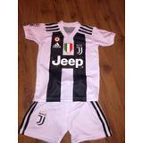 Camiseta Juventus 2018 + Short Niño 8-10-12-14-16. Nuevo!!