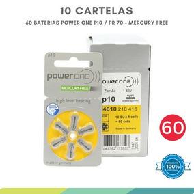 60 Pilhas Baterias P10 Pr70 Aparelho Auditivo - Power One