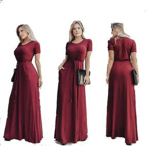 Vestido Longo Manguinha Verão Moda Cristã Evangélica