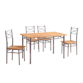 Comedor Caño Mesa Y 4 Sillas Varios Colores Muebles Metinca