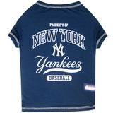 Mlb New York Yankees Dog T-shirt, Medium. - Licensed Shirt F