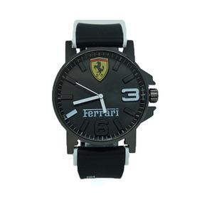 Relógio Ferrari Borracha Preto E Branco Frete Grátis