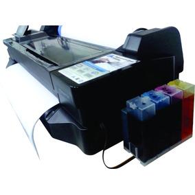 Impressora Ploter Hp T120 61cm A1 + Bulk + 8 Litros De Tinta
