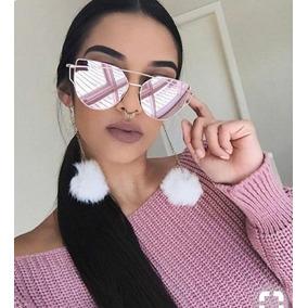 Óculos Gatinho Feminino Juvenil Espelhado Blogueiras Modinha · R  34 70 dacacbcbaf