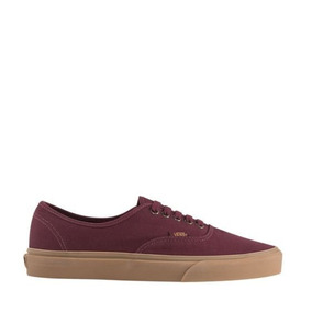 Tenis Vans Authentic Para Mujer Color Vino 2636207