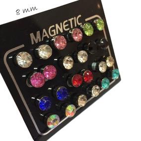 Brinco Cartela Imã Pressão 8mm Magnético 24 Uni Pequeno Top