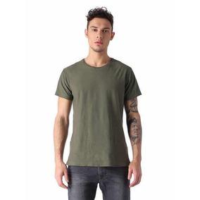 Camiseta Diesel Tossik, Color Verde, Talla G/m Envío Gratis