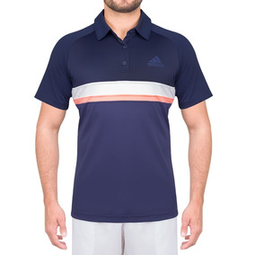 Camisa Polo adidas Club Td Azul Branca E Salmão 8497143954f