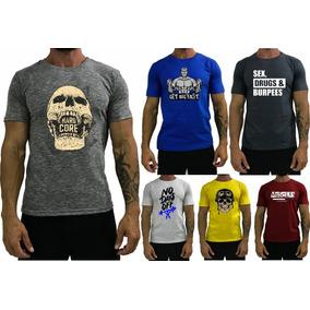 6 Camiseta Masculina T-shirt Treino Academia Camisa Blusa