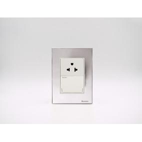 Placa Bauhaus Plata, Toma U S B Doble, Linea Premium
