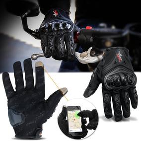 Luva Para Motociclista Cliclista Com Proteção E Função Touch