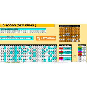Planilha Lotomania 80 Dezenas - 16 Jogos