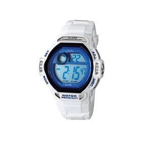 Relógio Masculino Cosmos Digital Os41075b Branco Cronógrafo