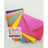 Sobres Color. 10x15 Cm. 100 Unidades