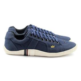 Tenis Sapatenis Osklen Unissex Riva Lona Jeans Azul Escuro