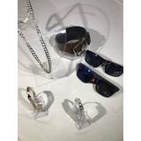 3c875110cc9f4 Kit Óculos De Sol Masculino+ Carteira+ Corrente + Cinto Fret