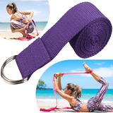 Cinturon Yoga Algodon Iyengar Cinto Tela 2 Mts Estiramiento
