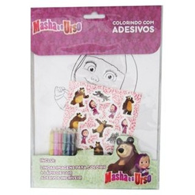 Colorindo Com Adesivos - Masha E O Urso / Entrega Garantida