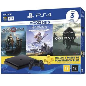 Console Playstation 4 Slim Sony Ps4 1 Tera 3 Jogos Mais Novo
