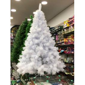 Arvore De Natal Pinheiro Branco Luxo 420 Galhos 1,80 M 18zg