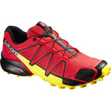 Zapatilla Masculina Salomon - Speedcross 4 M Rojo/amarillo