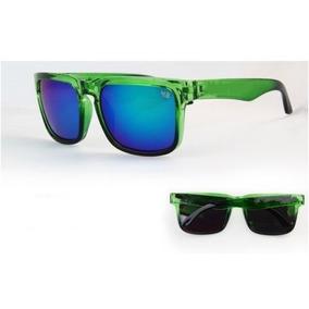 8c5b467a99c25 Óculos De Sol Retrô Quadrado Espelhado Lente Azul