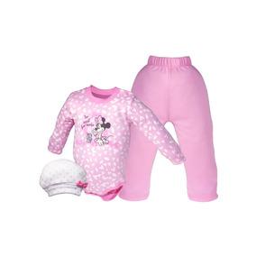 Set 3pz Pañalero Bb Ideal Disney Pantalon Gorro Minnie