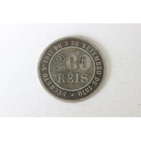 Moeda De 200 Réis De 1888