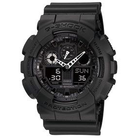 Relógio Casio G Shock Ga 100 1a1 Preto Fosco Envio 24 Hs