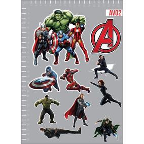 Adesivo Os Vingadores Avengers Herois Cartela 14pcs