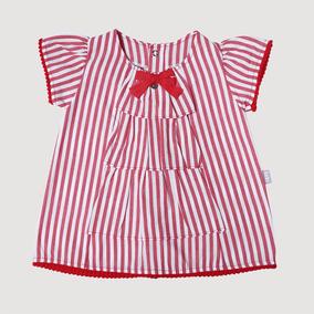 Vestido Listrado Vermelho