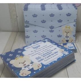 75 Convites Personalizados + Envelope + Adesivo