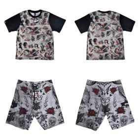 Kit Camiseta + Bermuda Poliéster - Ktron Comp - 01