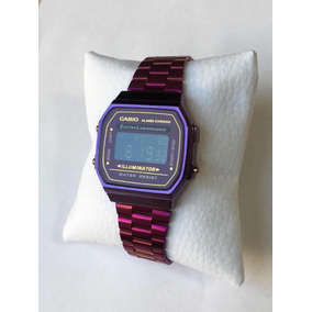 Reloj Casio Azul Metalico Con Caja