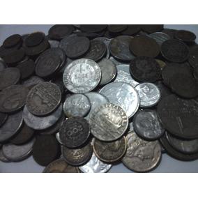 200 Moedas Antigas (prata,bronze,níquel,aço) - Frete Grátis