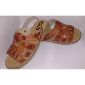 Sandalia Masculina Conforto 03a Couro Legit. Elpyshoes