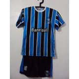 860366b945 Camiseta Manga Curta E Calção Grêmio Infantil