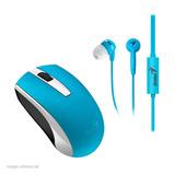 Combo Genius Mh-8100, Mouse Inalámbrico, 1600 Dpi Y Auricula