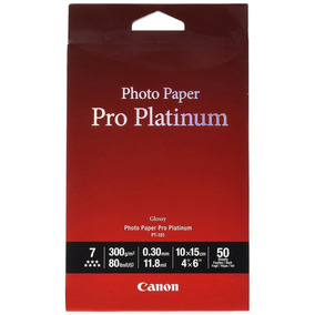 Papel Fotográfico Pro Platinum Canon 100 Hojas
